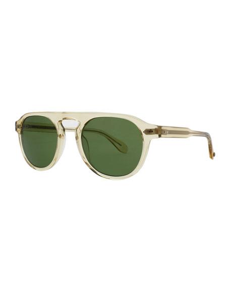 Garrett Leight Harding 47 Round Sunglasses, Champagne