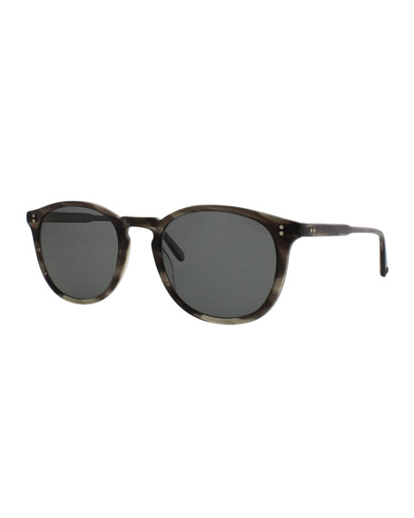 Garrett Leight Kinney Polarized Acetate Sunglasses, Tortoise