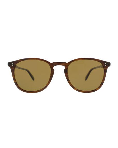 Kinney 49 Square Polarized Sunglasses, Matte Brandy Tortoise