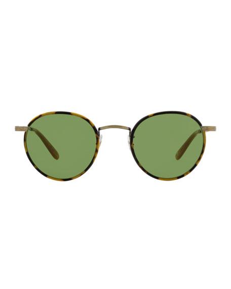 Wilson 49 Round Sunglasses, Tokyo Tortoise/Amber Honey