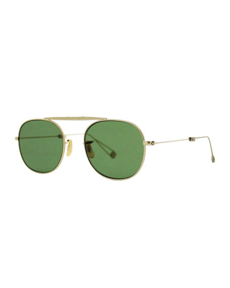 M Sunglasses  garrett leight van buren m 49 aviator sunglasses gold green