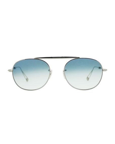 M Sunglasses  garrett leight van buren m 49 aviator sunglasses silver
