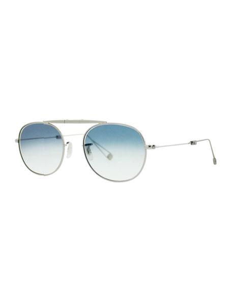 Garrett Leight Van Buren M 49 Aviator Sunglasses,