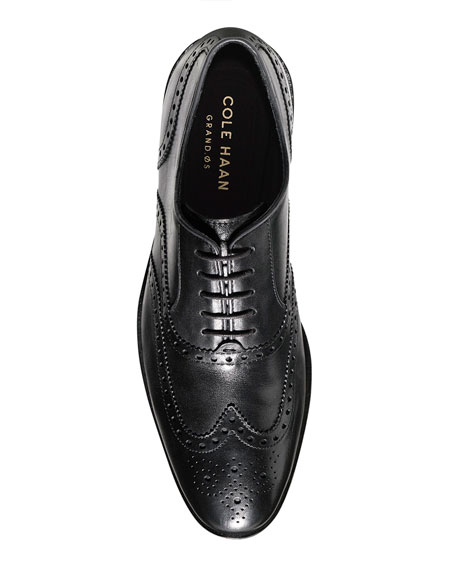 Hamilton Grand Wing-Tip Oxford, Black
