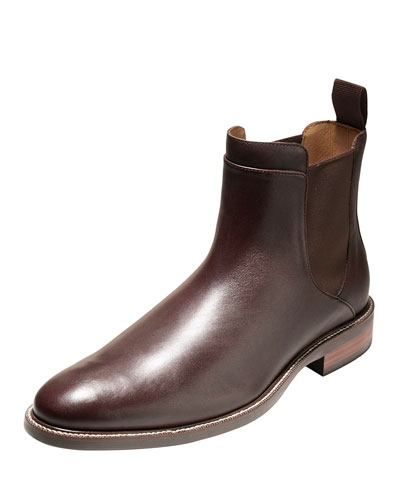 Warren Waterproof Leather Chelsea Boot, Chestnut