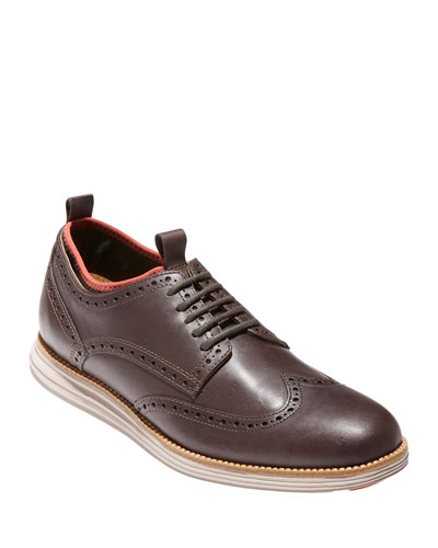 OriginalGrand Neoprene-Lined Wing-Tip Oxford, Chestnut/Dark Roast