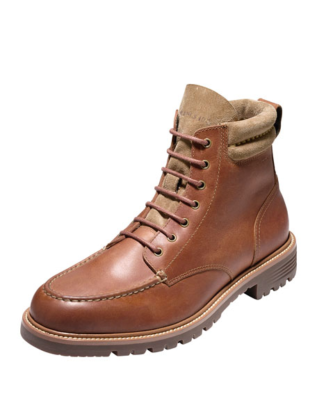 Cole Haan Grantland Waterproof Lace-Up Boot, Woodbury