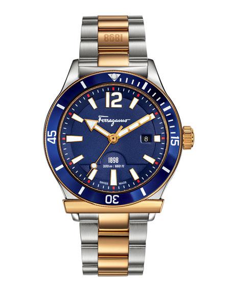 1898 Two-Tone Sport Watch, Blue
