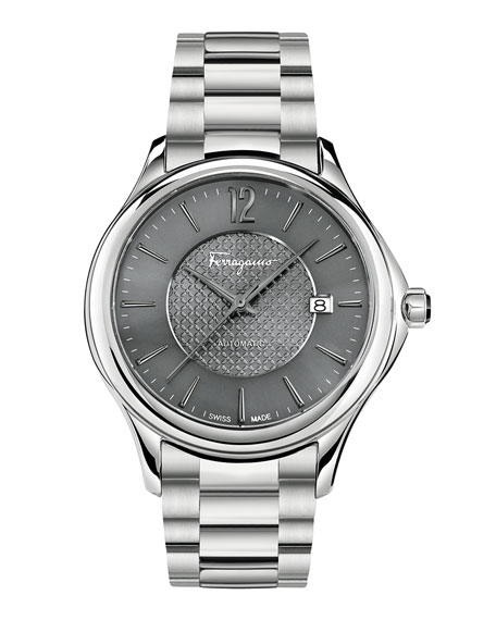 Ferragamo Time 41mm Stainless Steel Watch, Gray