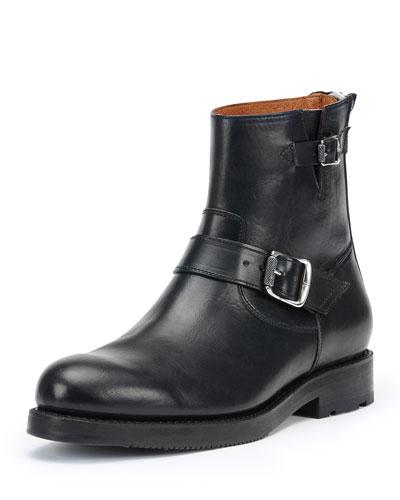 Brayden Leather Engineer Boot, Black