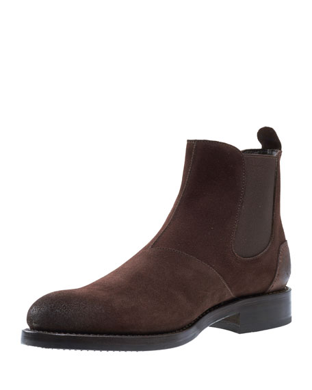 Wolverine Montague Suede Chelsea Boot, Brown