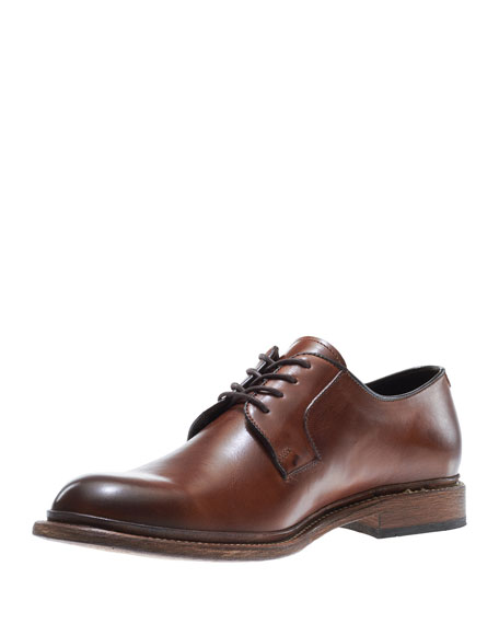Luke Leather Lace-Up Oxford, Brown