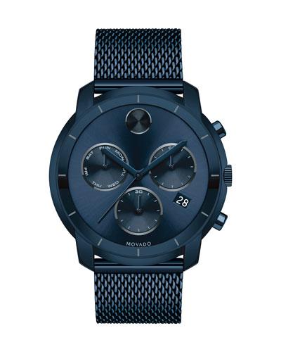 44mm Bold Watch with Mesh Bracelet, Navy