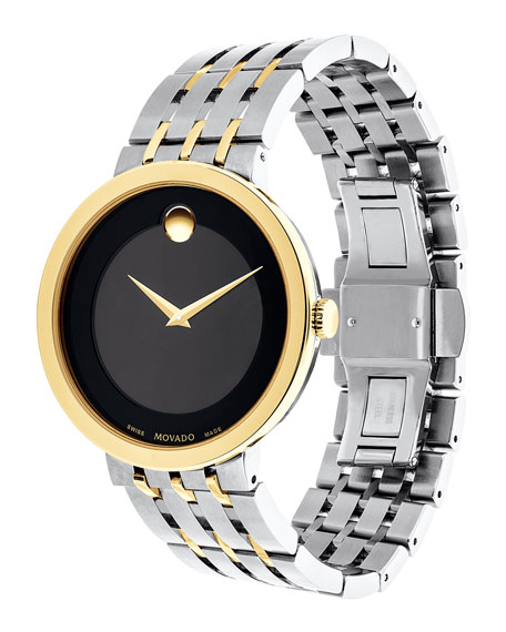 39mm Esperanza Watch, Silver/Gold