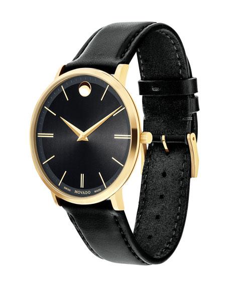 40mm Ultra Slim Watch, Black