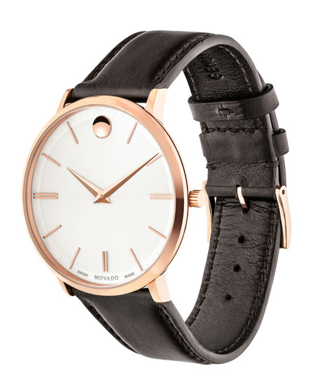 40mm Ultra Slim Watch, Brown