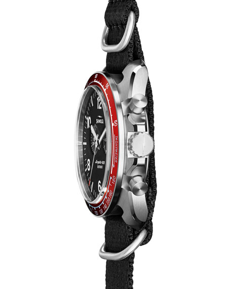 44mm Rambler Tachymeter Watch, Black