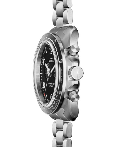 44mm Rambler 600 Tachymeter Watch, Silver