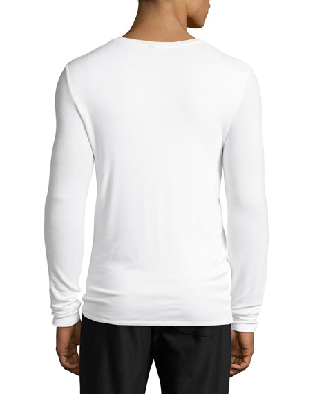 Ribbed Modal Henley T-Shirt