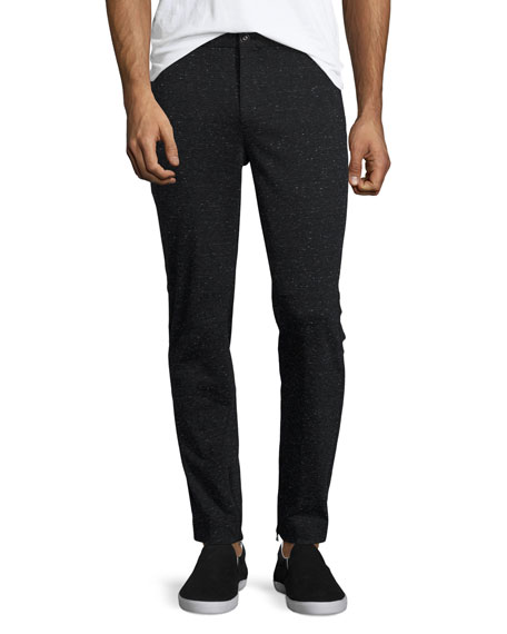 ATM Anthony Thomas Melillo Melange Moto Slim-Straight Pants,