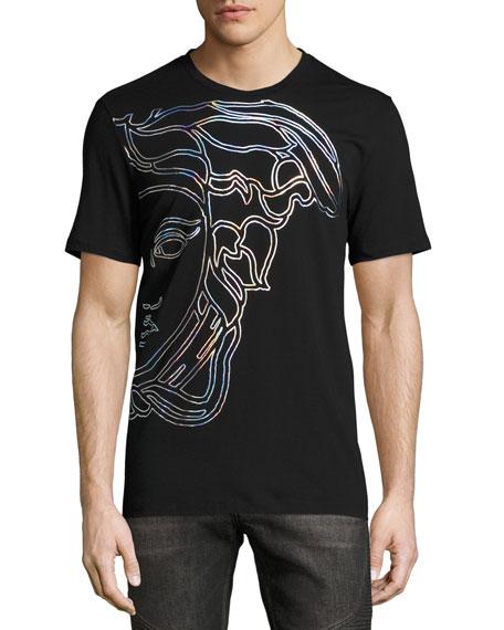 Hologram Medusa T,Shirt, Black
