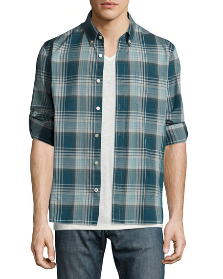 John Varvatos Star USA Slim-Fit Plaid Sport Shirt,