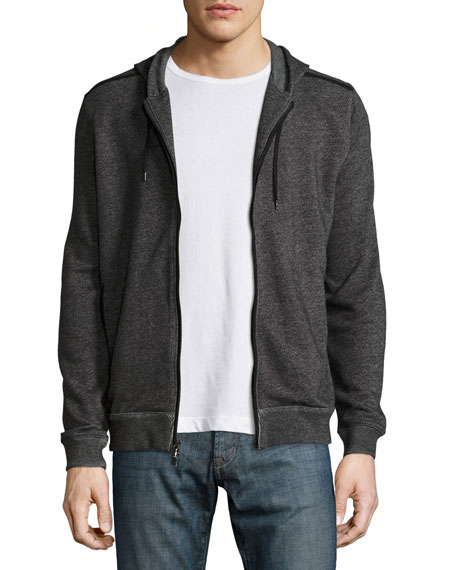 John Varvatos Star USA Marled Knit Zip Hoodie,