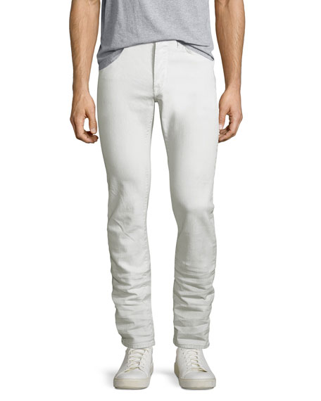 John Varvatos Star USA Wight Coated Skinny Jeans,
