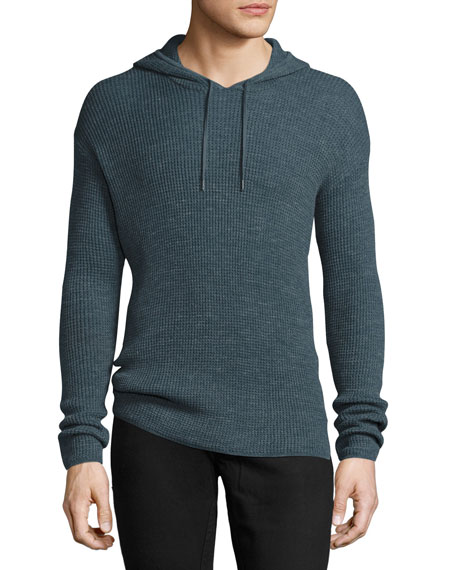 John Varvatos Star USA Waffle-Knit Pullover Hoodie, Dusty