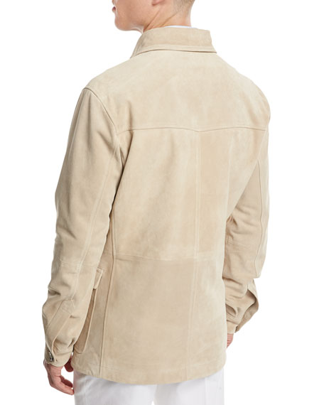 Suede Desert Jacket, Tan