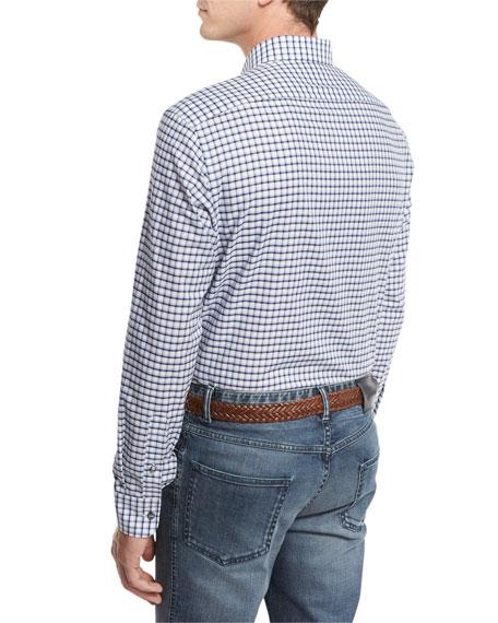 Graph-Check Sport Shirt, Blue/White