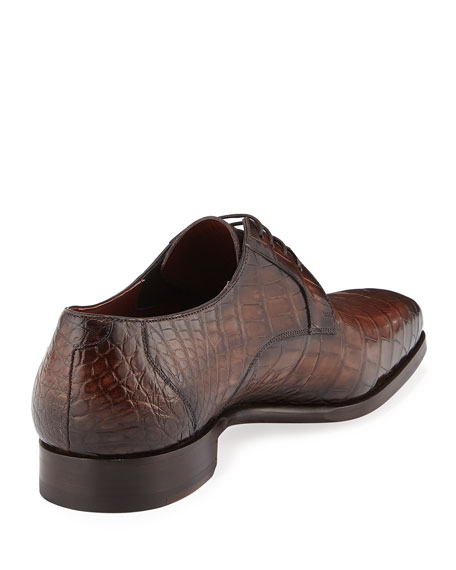 Alligator Oxford Shoe, Brown