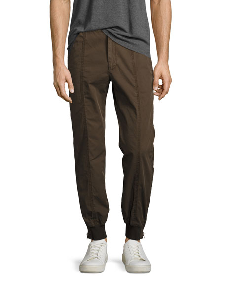 Juun J Jogger Pants with Full-Length Side Zips,