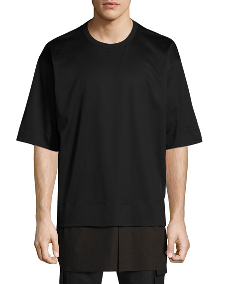 Juun J Faux-Layered Tee, Black