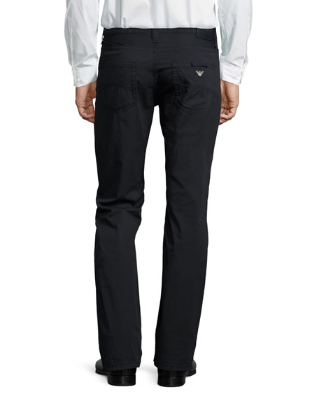 AJ Cotton Five-Pocket Pants, Navy