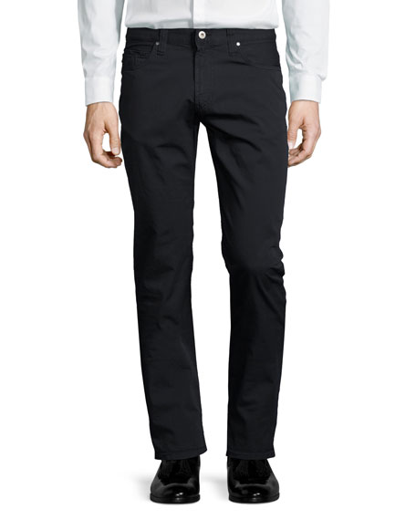 Armani Collezioni AJ Cotton Five-Pocket Pants, Navy