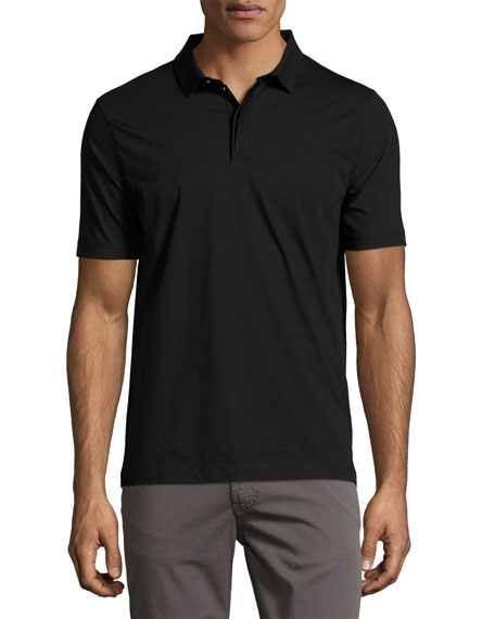 Armani Collezioni Supima?? Cotton Polo Shirt, Black