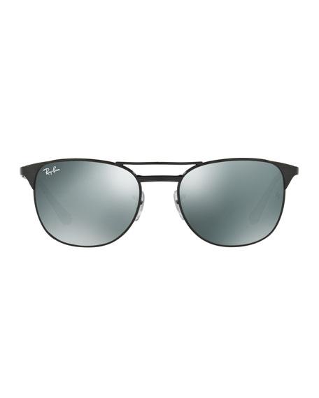 Men's Icon Signet Mirrored Sunglasses