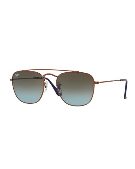 Copper Sunglasses  ray ban men s square double bridge sunglasses bronze copper