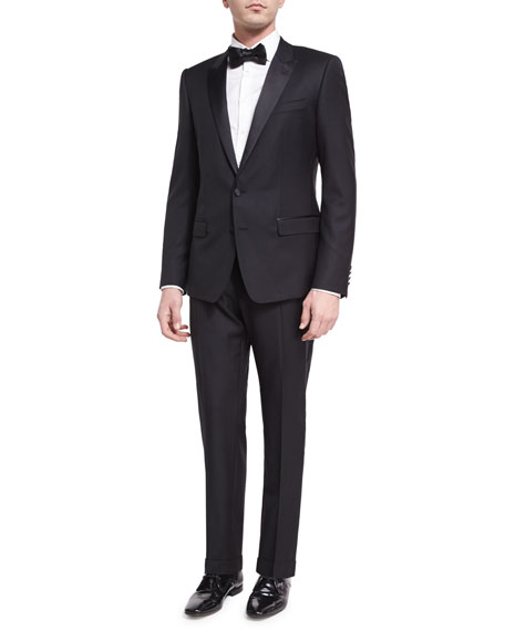 Martini Two-Piece Tuxedo Suit, Black