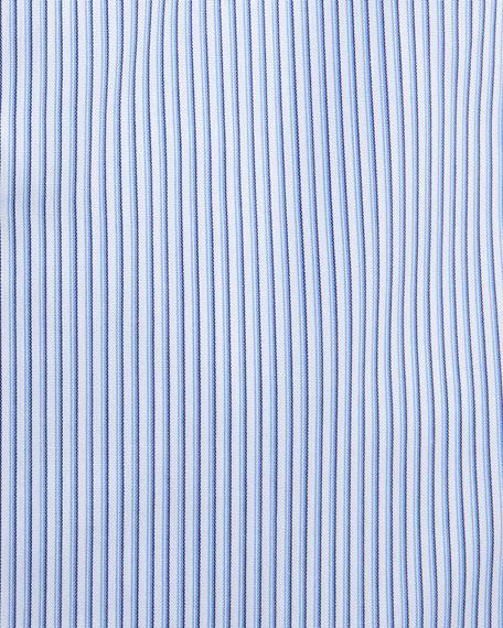 Striped Modern-Fit Dress Shirt, Blue