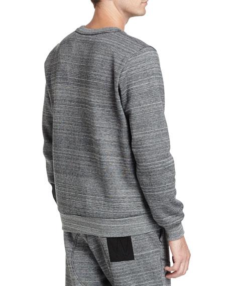 Lucas Thec Space-Dye Sweatshirt, Black