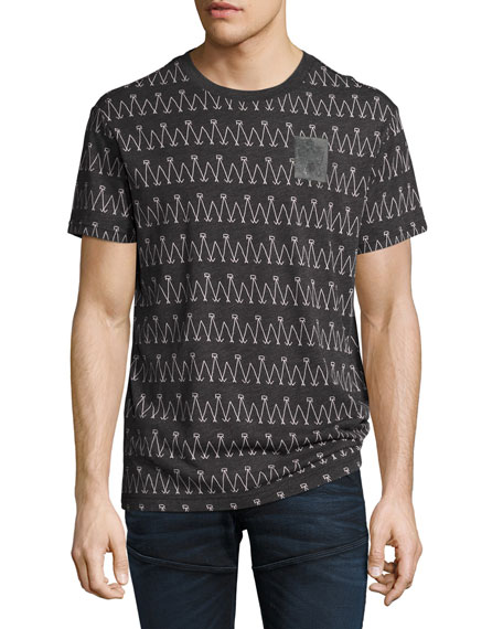 G-Star Lucas Jersey Logo Scribble Stripe T-Shirt, Black