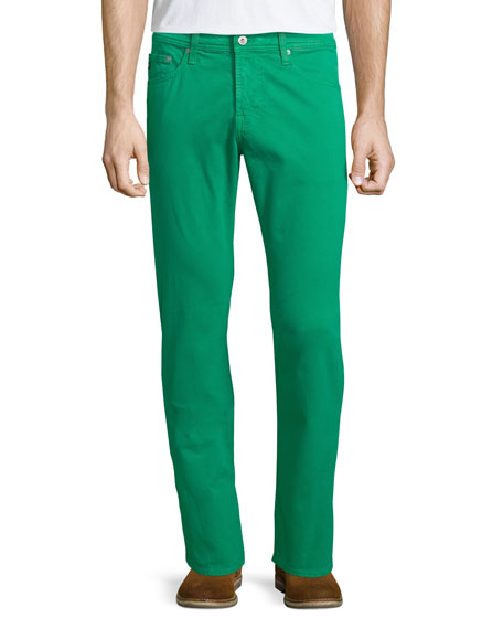 AG Adriano Goldschmied Five-Pocket Sud Jeans, Green