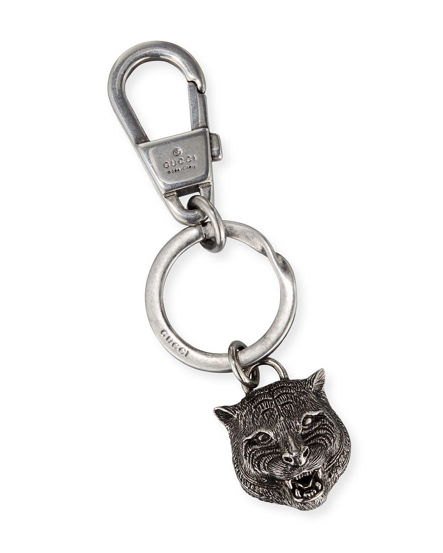 4c693a8bc05 Gucci Felina Tiger Head Key Ring