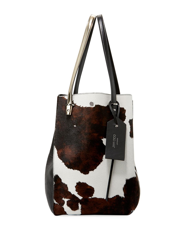 Twist Men S Cow Print Calf Hair Tote Bag