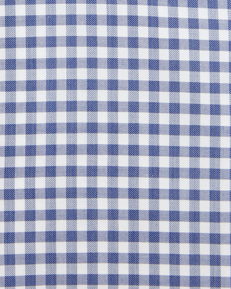 Gingham Dress Shirt, Slate Blue