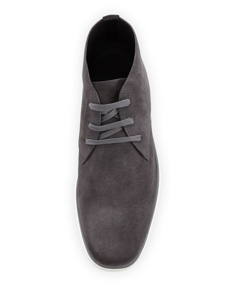 Newport Perforated Suede Chukka Boot, Gray