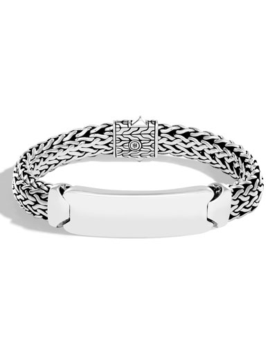 Men's Medium Modern Chain Sterling Silver ID Bracelet
