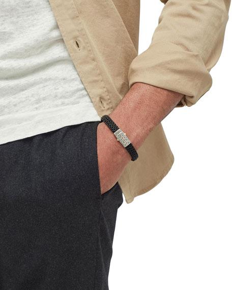 Men's Classic Chain Rubber Push-Clasp Bracelet